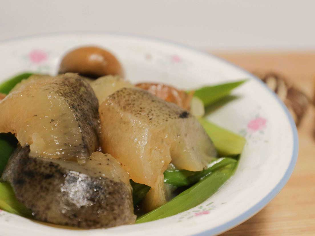 CNY Special - Stir Fried Sea Cucumber With Chinese Leeks 大蒜